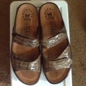 Mephisto Mobils Wedge Sandals Size 40